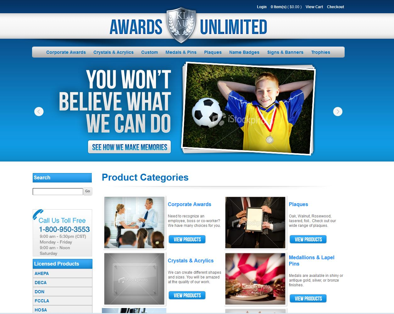 Awards Unlimited Site Launch